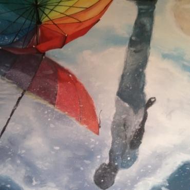 Regenboog - acryl op doek (2014)