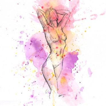 Kleur nr. 1 - aquarel en inkt (2017)