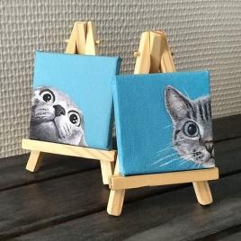 Kleine katjes op doek
