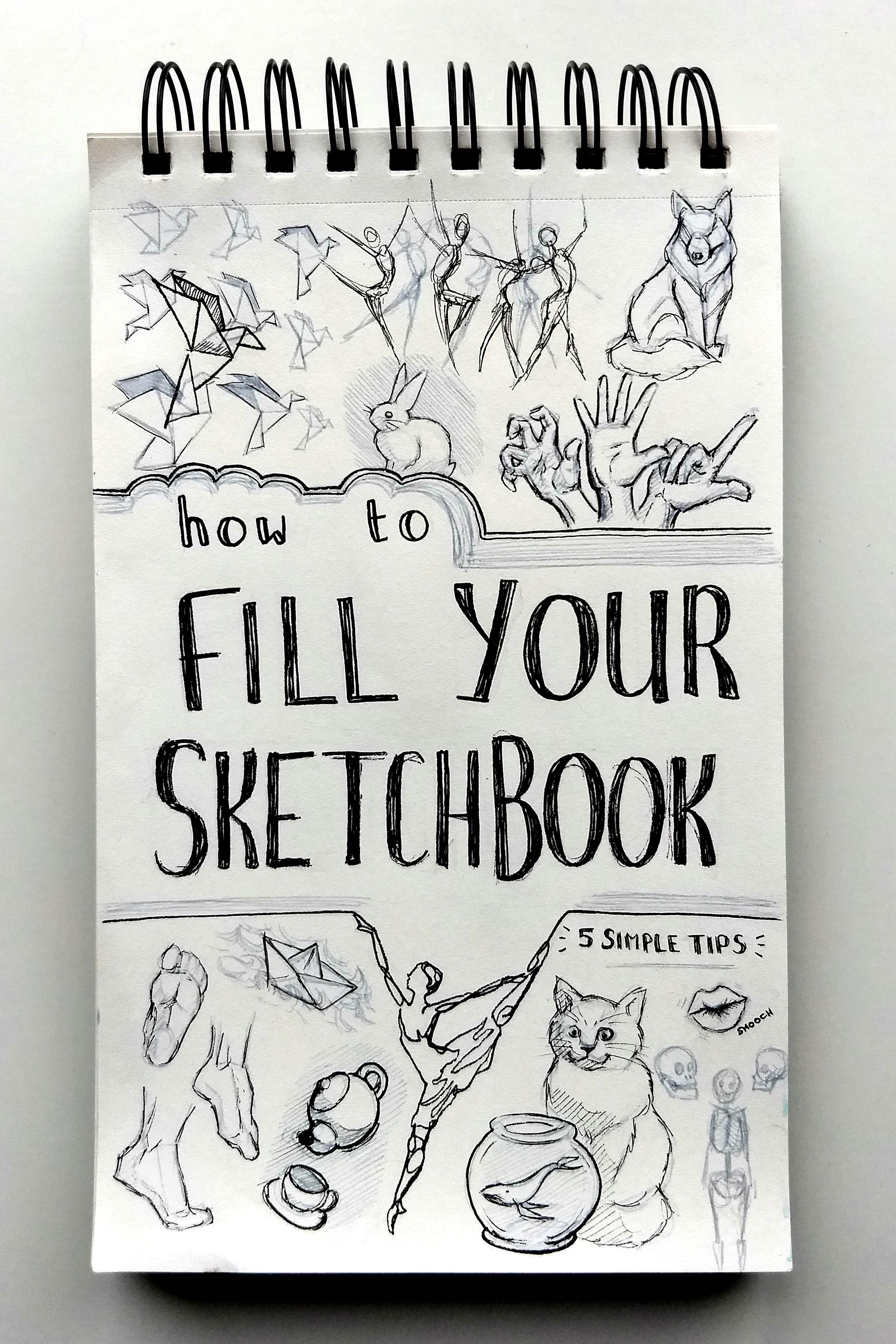 how to fill your sketchbook - hoe vul ik een schetsboek