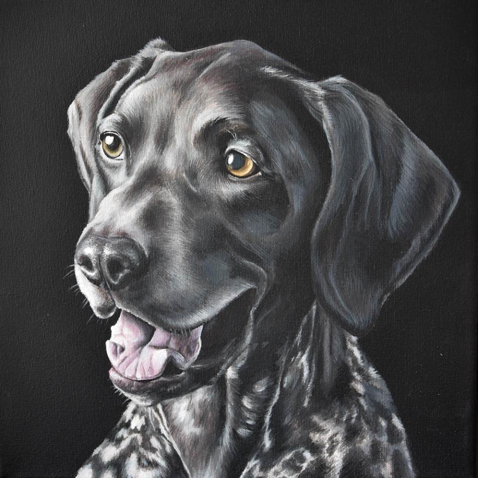 Portret Milo - acryl op doek, 30x30cm (2020)